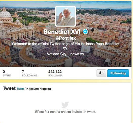 """Il Papa sbarca su Twitter ed è subito """"#faiunadomandaalpapa"""""""
