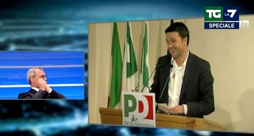 """#DirezionePD - Mentana invia SMS a #Renzi: """"Siamo in pubblicità, aspetta!"""" [VIDEO]"""