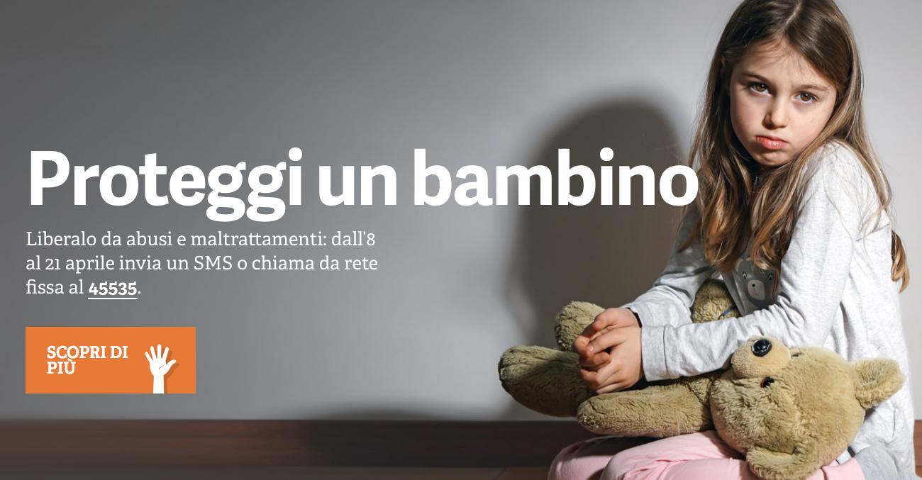 #LiberiTutti, un sms contro la violenza sui minori